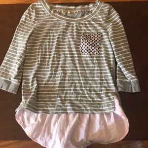 Anthropologie mixed media top